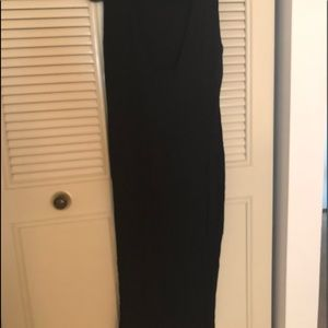 Long black dress. Stretching and comfortable.